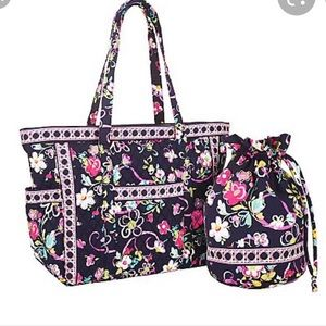 Vera Bradley Ribbons Carried Away Tote Diaper bag